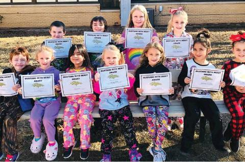 Allen Students of the month for December for showing Empathy were Evan McCarty, Brooklyn Nester, Mila Smith, Whitney older, Iabella Gonzalez and Peyton Lewis, back row Jackson Steward, Jonah Davis, Macey Pritchett and Tinsley Wofford
