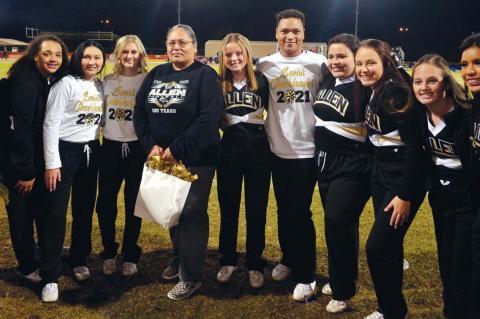 The Allen cheerleaders