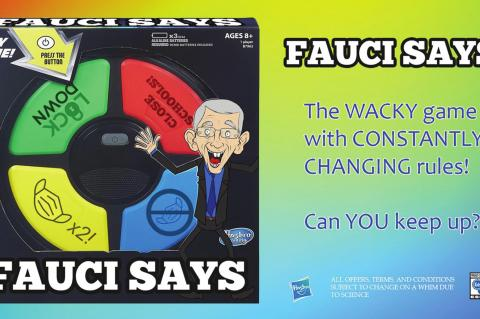 Hasbro releases exciting new 'Fauci Says' Game