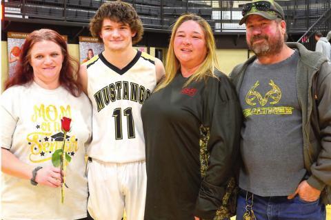 Basketball Seniors & Parents are Honored