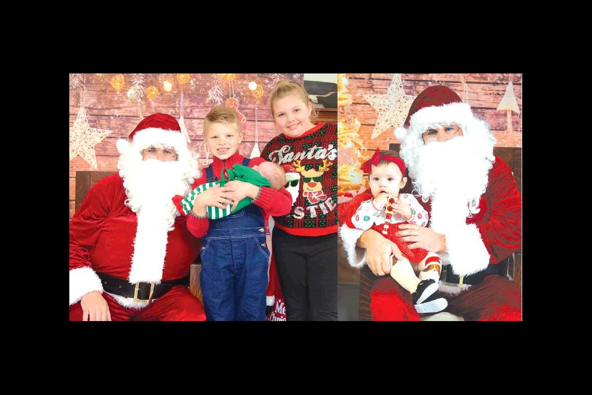 Ryder and Hattie Johnson introduced their new brother Lincoln to Santa for the fi rst time. Amilia Sanchez didn't say much to Santa but he knows just what she wants.